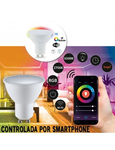 Bombilla LED SMART WIFI 5W GU10 RGB