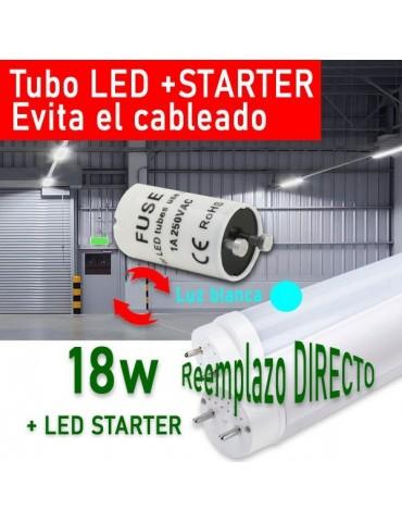 Tubo LED T8 120cm 18W + Cebador LED