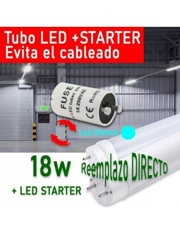 Tubo LED T8 120cm 18W + Cebador LED