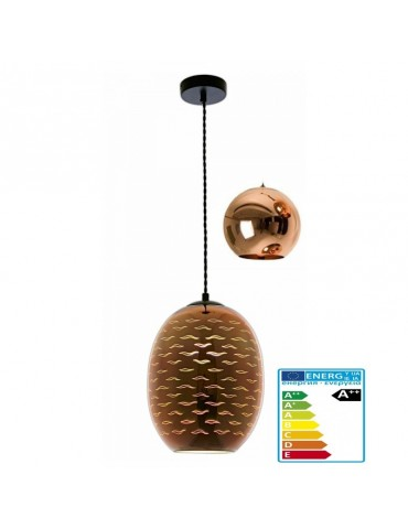 Lámpara Colgante 3D de Cristal y Metal negro Seagull efecto Golondrinas.