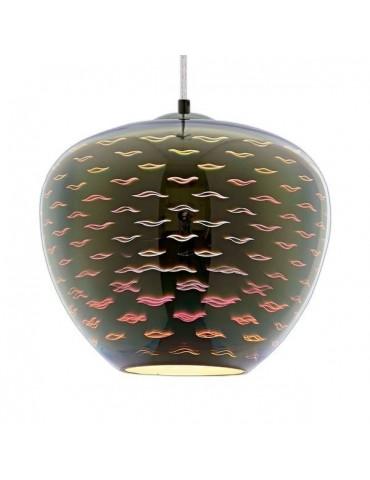 Lámpara Colgante 3D de Cristal y Metal cromo efecto golondrinas.