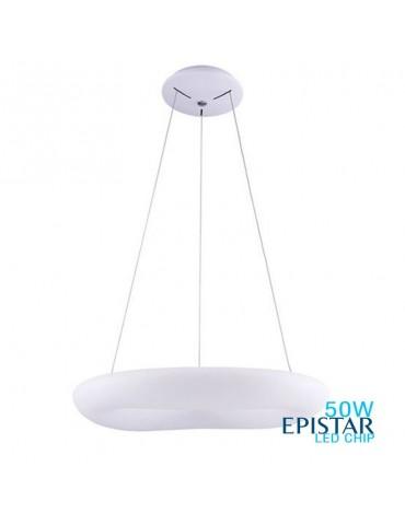 Lámpara Colgante Decorativa LED Circular Blanca 50W Ø60cm