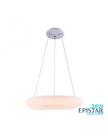 Lámpara Colgante Decorativa LED Circular Blanca 38W 45cm