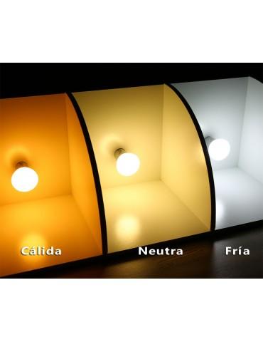 Pack 10 LED Esférica 6W E27 HTPC+Aluminio 220°