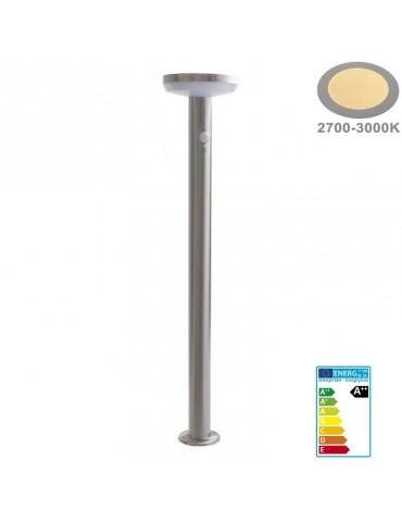 Baliza Solar LED CIRCULAR INOX 80cm Sensor mov PIR