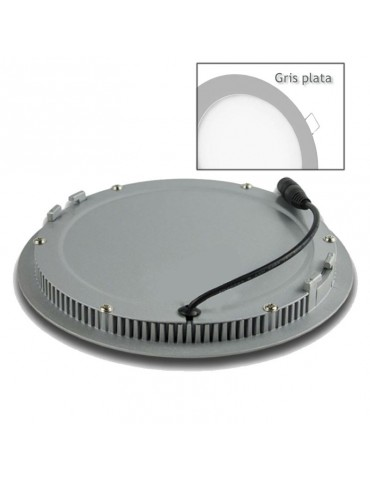 PANEL LED Downlight 18W Circular Empotrable Slim Gris Plata