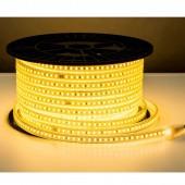 TIRA DE LED AC230V 14,4W/m IP67 160°BLANCA CÁLIDA SMD5050impermeable