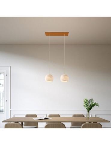 Lámpara colgante de diseño italiano DOPPIO