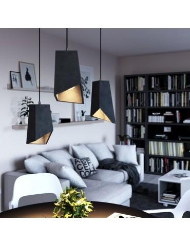 Lámpara colgante cemento de diseño italiano PRIMMA cemento oscuro