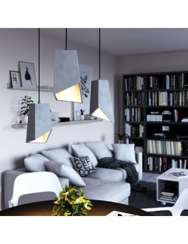 Lámpara colgante cemento de diseño italiano PRIMMA cemento claro