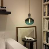 Lámpara colgante FIGGO cuero diseño italiano