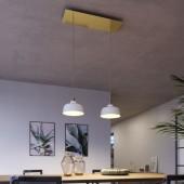 Lámpara colgante DEIA 2 caídas de diseño italiano latón satinado