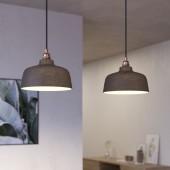 Lámpara colgante DEIA 2 caídas de diseño italiano negro mate
