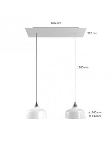 Lámpara colgante DEIA 2 caídas de diseño italiano dimensiones