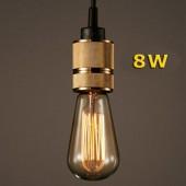 LED VINTAGE RETRO EDISON ST64 8W E27 230V CRISTAL 360°