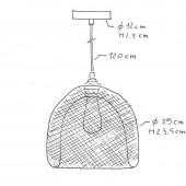 Lámpara colgante GABBIA dimensiones