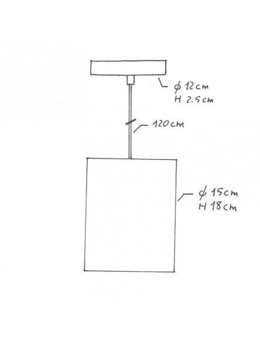 Lámpara colgante RAFFIA de diseño italiano dimensiones