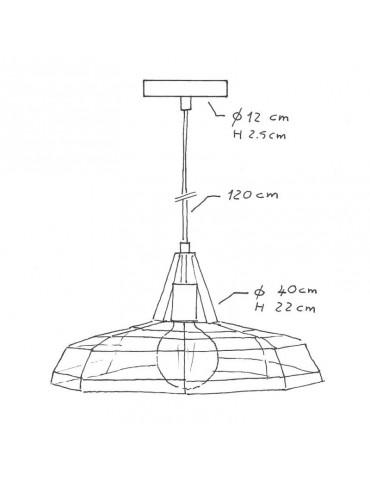 Lámpara colgante TWEET de diseño italiano dimensiones