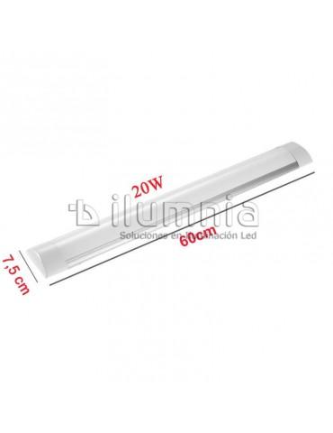 REGLETA LED SLIM 20W 60cm Aluminio+PC dimensiones