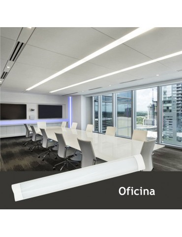 REGLETA LED SLIM 20W 60cm Aluminio PC Uso oficina
