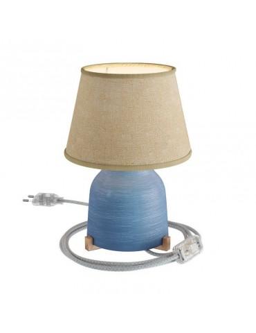 Lámpara de sobremesa IMPERIAL de CERÁMICA Y YUTE diseño italiano