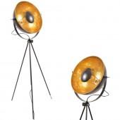 Lámpara de pie vintage industrial con trípode vistas