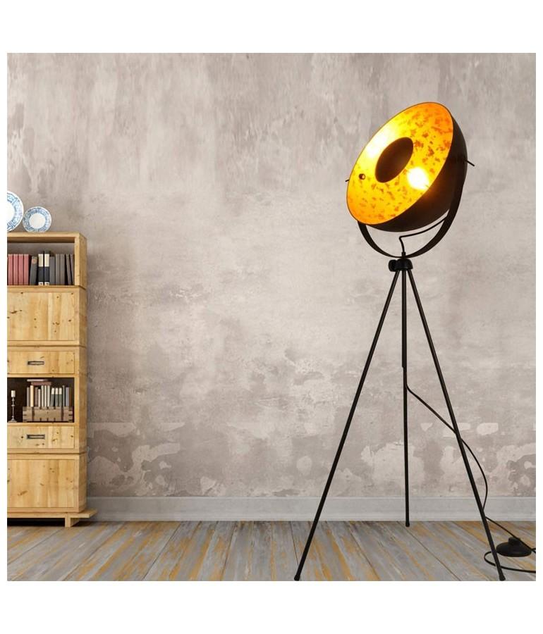 Lámpara de pie vintage industrial con trípode