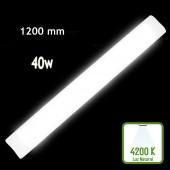 REGLETA LED SLIM 40W 120cm Aluminio+PC 4200K