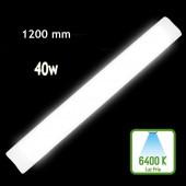 REGLETA LED SLIM 40W 120cm Aluminio+PC 6400K