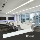 REGLETA LED SLIM 40W 120cm Aluminio+PC Uso Oficina