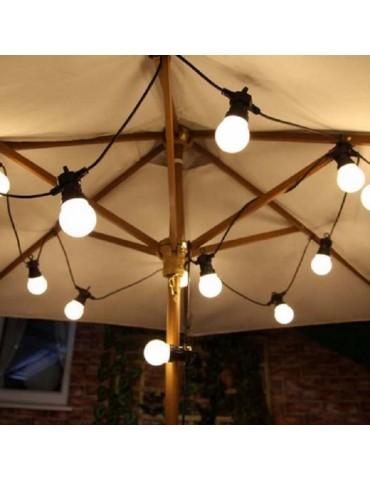 Guirnalda luces feria exterior 15 metros 15 E27