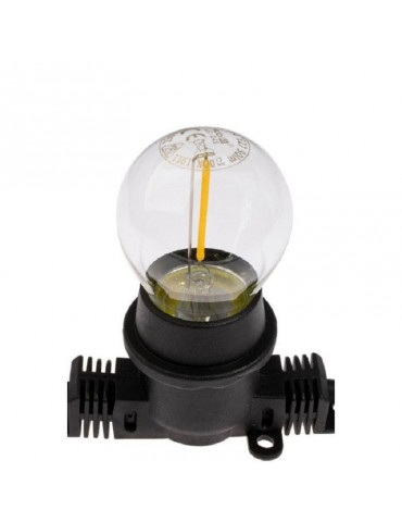 Bombilla LED G45 E27 1W Transparente 2700ºK