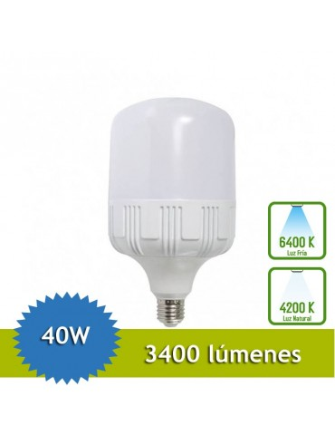 BOMBILLA INDUSTRIAL LED 40W E27 T100