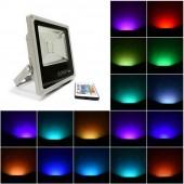 Foco Proyector Led 30W RGB Mando IR Slim IP65