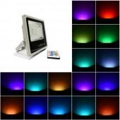 Foco Proyector Led 10W RGB Mando IR Slim IP65