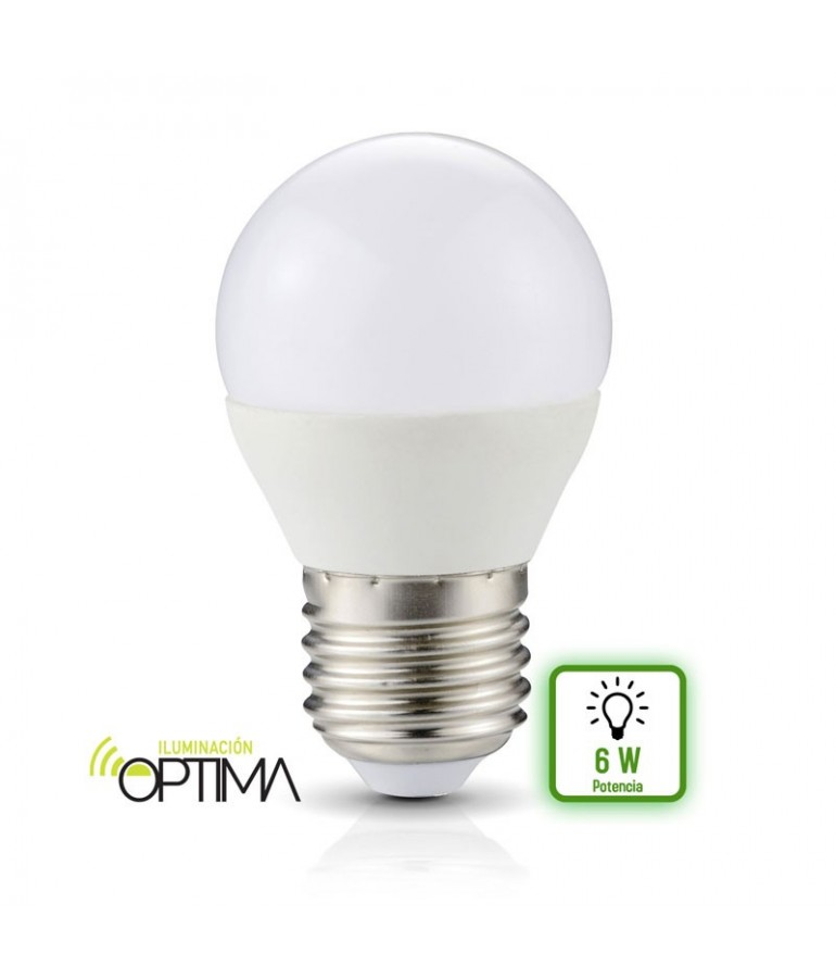 LED Esférica G45 6W E27 HTPC Aluminio 220°