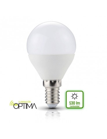 Bombilla LED Esférica P45 6W E14  HTPC Aluminio 220°