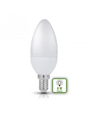 Bombilla LED Vela C37 E14 6W 230V HTPC