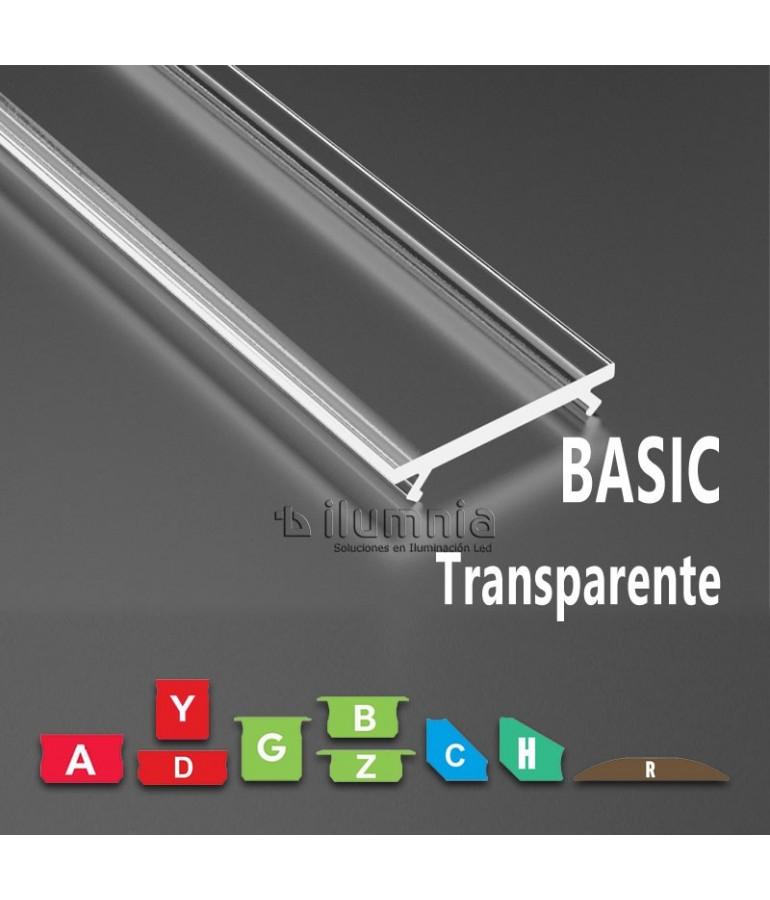 DIFUSOR TRANSPARENTE BASIC MODELOS A,B,C,D,G,H,R,Y,Z,COS