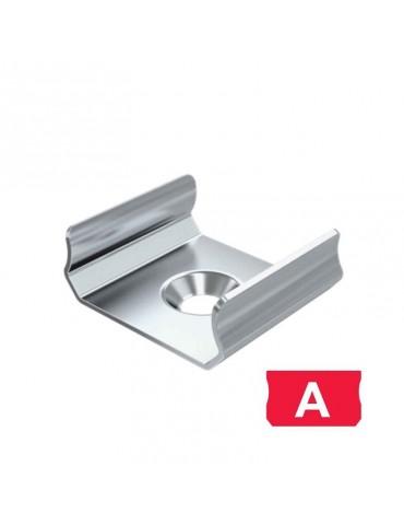 "Grapa de metal para sujeción perfil de aluminio plano ""A"""