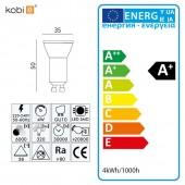 Clasificación energética Bombilla LED dicroica MR11 4W 230v