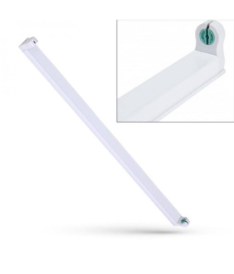 Regleta Aluminio 1 tubo led T8 de 150cm 2 extremos