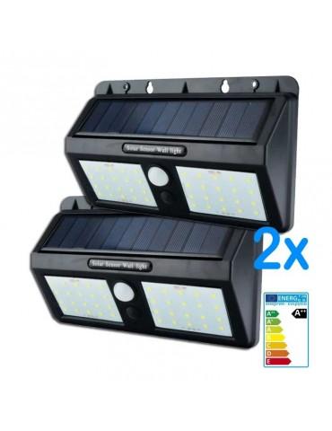 Pack Aplique Solar LED pared con sensor de movimiento
