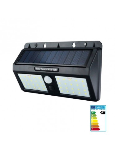 Aplique Solar LED pared con sensor movimiento