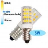 Bombillas LED TUBULAR 5W E14 Cristal