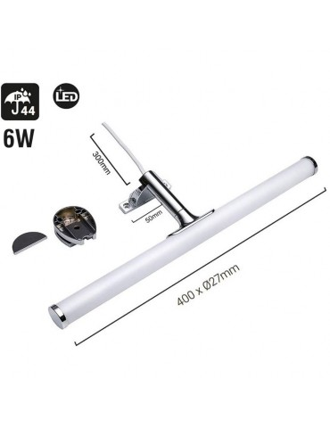 Aplique Baño Espejo Led 6W 40cm Lineal IP44 Dimensiones