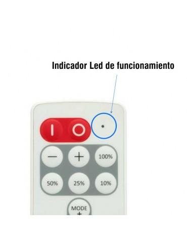 Mini Controlador Tira leds 12v mando RC 8 PROGRAMAS Indicador Led