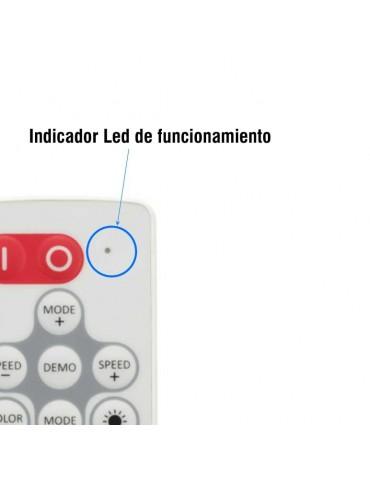 Mini Controlador Tira leds RGB 12v mando RC 19 PROGRAMAS indicador Led
