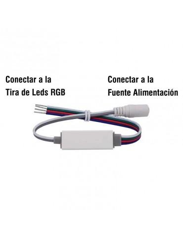 Mini Controlador Tira leds RGB 12v mando RC 19 PROGRAMAS conexiones