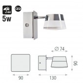 Aplique Baño pared Led 5W IP44 dimensiones